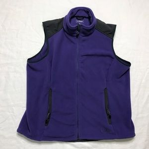 L.L.Bean Purple full zip Fleece Vest